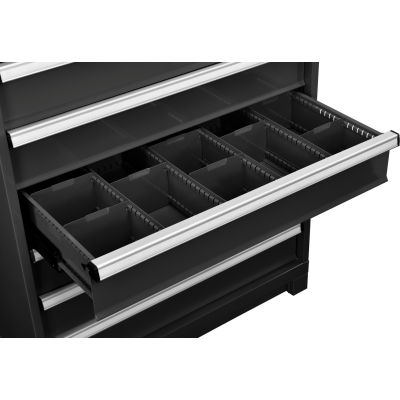 """Global Industrial™ Dividers for 6""""H Drawer of Modular Drawer Cabinet 36""""Wx24""""D, Black"""