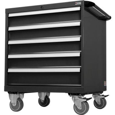 """Global Industrial™ Handle And Wheel Kit For Modular Drawer Cabinet, Black, 30""""W x 27""""D"""