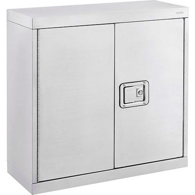 "Global Industrial™ Stainless Steel 430, Wall Cabinet - 30""W x 12""D x 30""H"