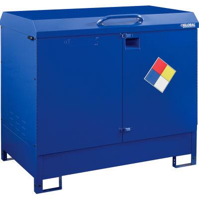 Global Industrial™ Outdoor Drum Cabinet 110 Gal. Capacity, Manual Close, Unassembled