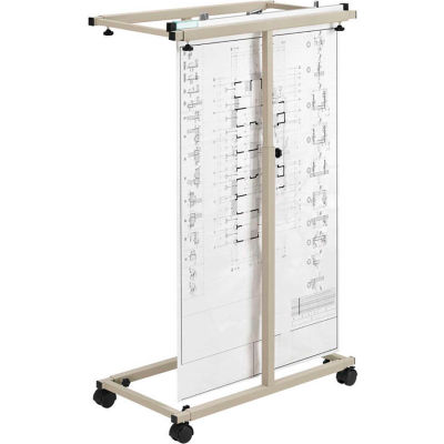 """Interion™ Expandable Mobile Plan Center & 12 30"""" Hanging Clamps"""