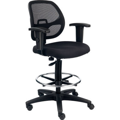 Drafting Stool - Fabric - Black