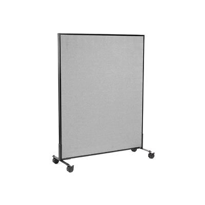 """Mobile Office Partition Panel, 48-1/4""""W x 63""""H, Gray"""