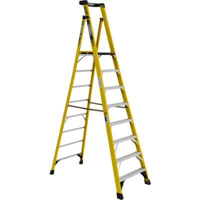 Werner 8' Type 1AA Fiberglass Podium Ladder - PD7308
