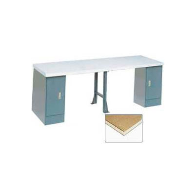 """96""""W x 30""""D Extra Long Production Workbench - Shop Top Square Edge - Gray"""