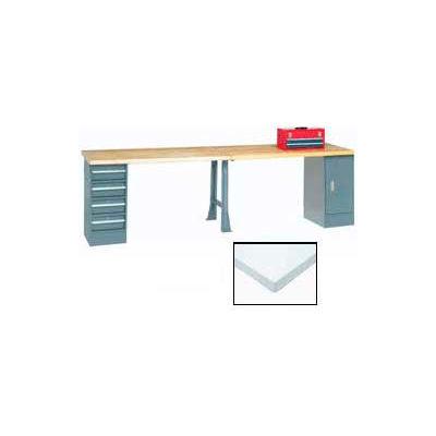 "96""W x 30""D Extra Long Production Workbench - Plastic Laminate Square Edge - Gray"