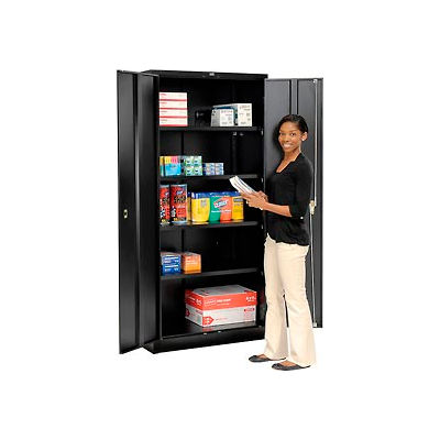Global Industrial™ Storage Cabinet Easy Assembly 36x24x78 Black
