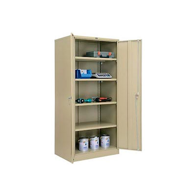 Global™ Storage Cabinet Assembled 36x24x78 Tan