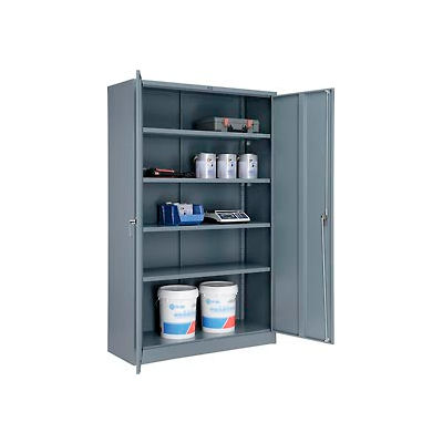 Global™ Storage Cabinet Easy Assembly 48x18x78 Gray