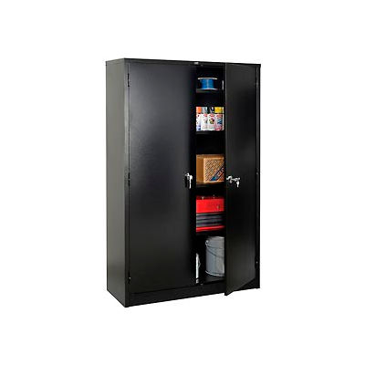 Global™ Storage Cabinet Easy Assembly 48x18x78 Black