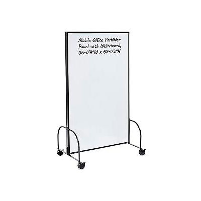 """Global Industrial™ Mobile Office Partition Panel with Whiteboard, 36-1/4""""W x 63-1/2""""H"""