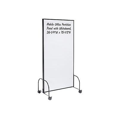 "Mobile Office Partition Panel with Whiteboard, 36-1/4""W x 75-1/2""H"