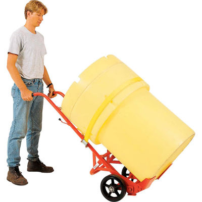 Modern Equipment MECO 29VR-2 Poly Overpack Drum Truck Rubber Casters 1000 Lb.