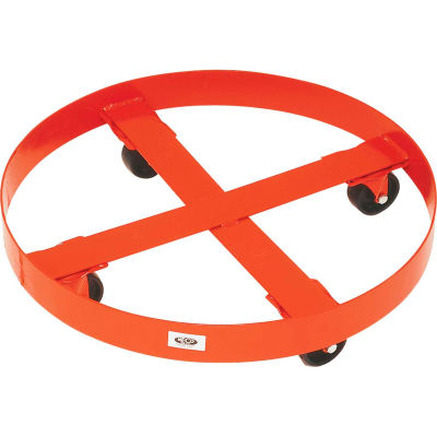 """Modern Equipment MECO 436S Round Drum Dolly for 55 Gallon Drums 3"""" Steel 1200 Lb."""