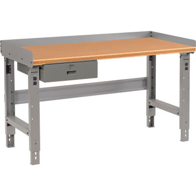 """Global Industrial™ Workbench w/ Shop Top Safety Edge, 72""""W x 30""""D, Gray"""