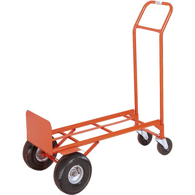 Modern Equipment MECO 200PN Convetible 2-in-1 Hand Truck Pneumatic 600 Lb.