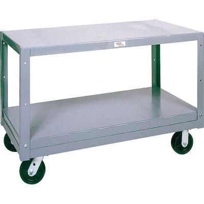 Modern Equipment MECO 6MS305-2 Mobile Steel Table 2 Shelf 30x60 Polyolefin 3000 Lb.