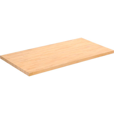 """Global Industrial™ 48""""W x 24""""D x 1-3/4""""H Maple Butcher Block Square Edge Workbench Top"""