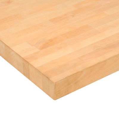 "Global Industrial™ 72""W x 36""D x 1-3/4""H Birch Butcher Block Square Edge Workbench Top"
