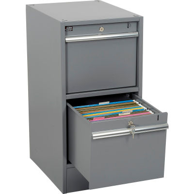 Global Industrial™ Premium 2 Drawer Pedestal with Built in Base