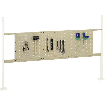 "Global Industrial™ Panel Kit for 72""W Workbench - 18""W and 36""W Pegboards, Mounting Rail Tan"