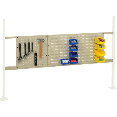 """Global Industrial™ Panel Kit for 72""""W Workbench - 18""""W Pegboard & 36""""W Louver, Mounting Rail TN"""