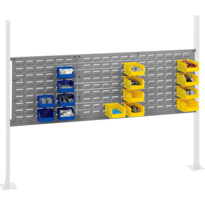"Panel Kit for 60""W Workbench with 18""W and 36""W Louvers, Mounting Rail -Gray"