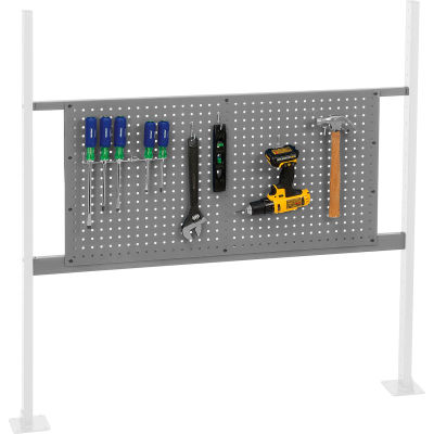 "Panel Kit for 48""W Workbench with 36""W Pegboard, Mounting Rail -Gray"