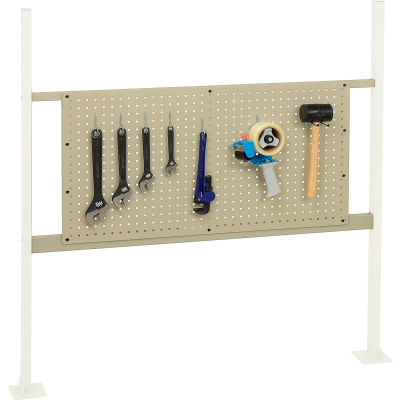 """Global Industrial™ Panel Kit for 48""""W Workbench with 36""""W Pegboard, Mounting Rail for-Tan"""