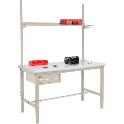 Global Industrial™ 72x36 Production Workbench Laminate Safety Edge - Drawer, Upright & Shelf TN