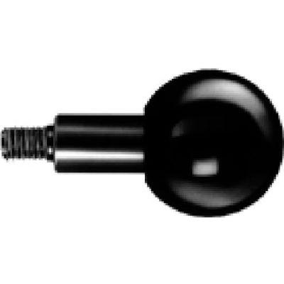 J.W. Winco GN319.2 Phenolic Revolving Ball Knob W/Long Shoulder 40mm Diameter 61mm Length 3/8-16