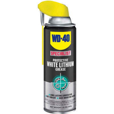 WD-40® Specialist® Protective White Lithium Grease - 10 oz. Aerosol Can - 300240/ 300615 - Pkg Qty 6