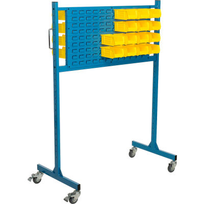 "Global Industrial™ 48"" W Louver Panel Rack, Blue"