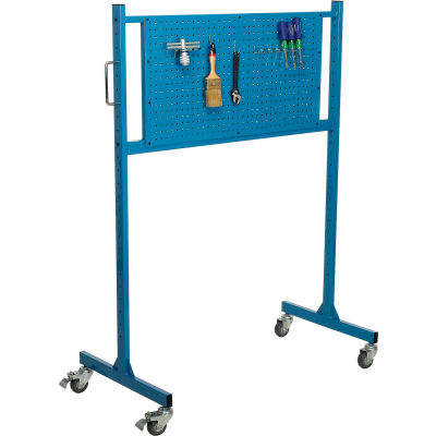 "Global Industrial™ 48"" W Pegboard Panel Rack, Blue"
