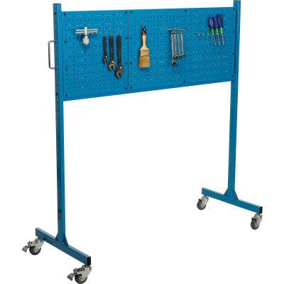 "Global Industrial™ 60"" W Pegboard Panel Rack, Blue"