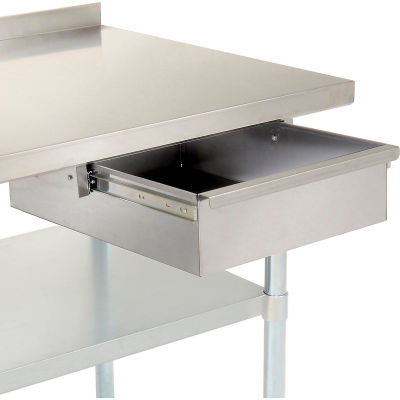 "15""W x 20""D x 5""H Stainless Steel Workbench Drawer"