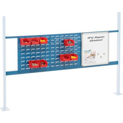 "Global Industrial™ Panel Kit for 72""W Workbench, 18""W Whiteboard & 36""W Louver, Mounting Rai BL"