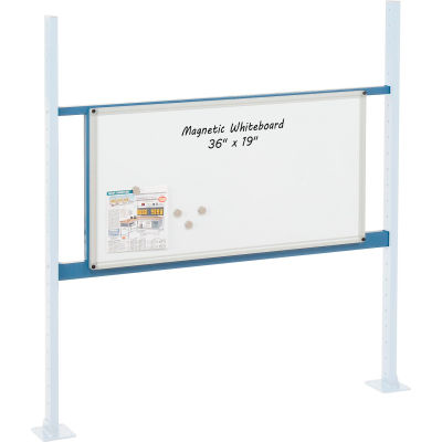"""Global Industrial™ Panel Kit for 48""""W Workbench with 36""""W Whiteboard, Mounting Rail - Blue"""