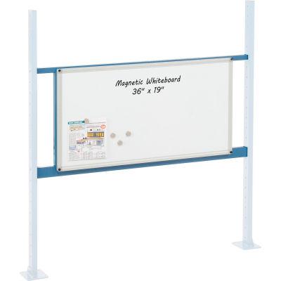 """Global Industrial™ 36"""" Whiteboard Panel Kit, 48""""W, Blue"""