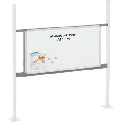 """Panel Kit for 48""""W Workbench with 36""""W Whiteboard, Mounting Rail - Gray"""