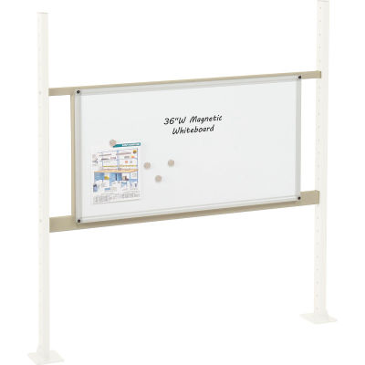 """Global Industrial™ Panel Kit for 48""""W Workbench with 36""""W Whiteboard, Mounting Rail - Tan"""