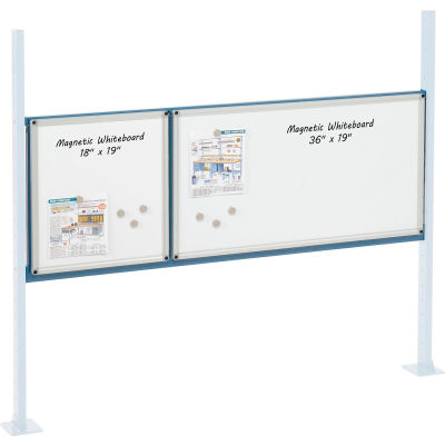 """Global Industrial™ Panel Kit for 60""""W Workbench - 18""""W and 36""""W Whiteboard, Mounting Rail Blue"""