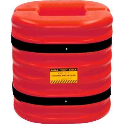 """Eagle Column Protector, 12"""" Column Opening, 24"""" High, Red, 1724-12-RED"""