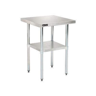 "Global Industrial™ Workbench w/ 18 Ga 430 Series SS Top & Undershelf, 24""W x 24""D"