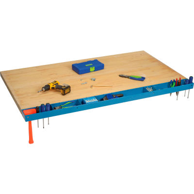"Global Industrial™ 60""W Workbench Tool Organizer and Sorting Tray - Blue"