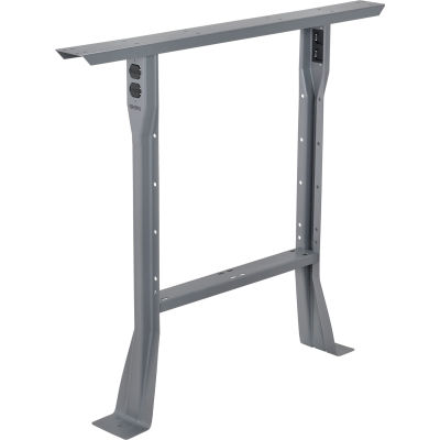 """Global Industrial™ C-Channel Flared Fixed Height Leg 32""""H - for 36""""D Workbench, 1 Leg - Gray"""