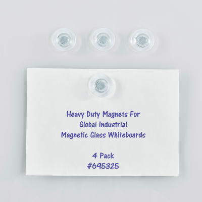 Global Industrial Heavy Duty Magnets, Pack of 4