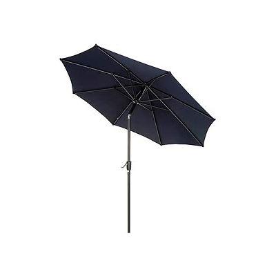 Global Industrial™ Outdoor Umbrella -Tilt Mechanism - Olefin - 8-1/2', Navy Blue