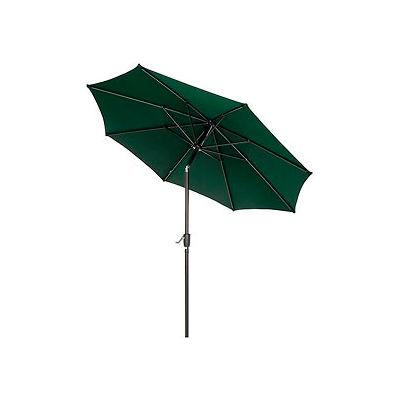 Global Industrial™ Outdoor Umbrella - Tilt Mechanism - Olefin - 8-1/2', Green