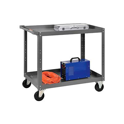 2 Shelf Steel Stock Cart 36 x 24 800 Lb. Capacity